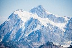 Zoom in on Mt. Baker